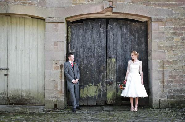 bride and groom at Lancashire wedding