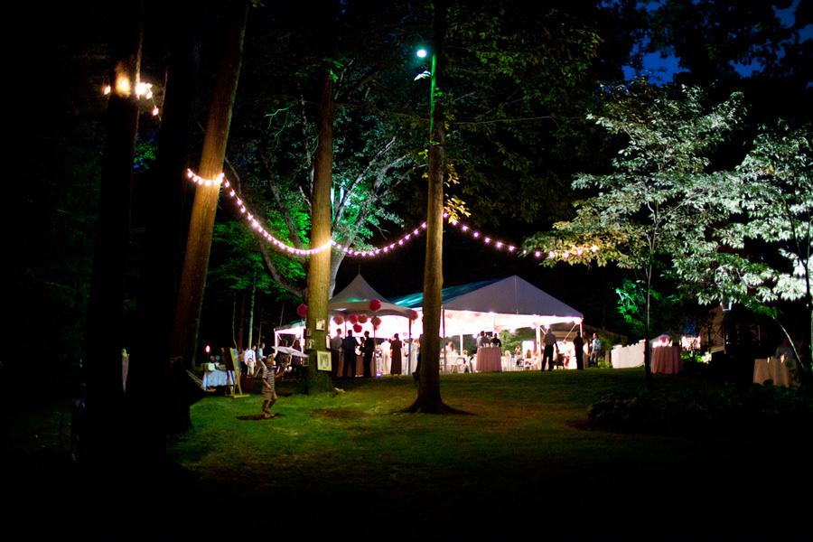 evening time at an Ohio wedding reception
