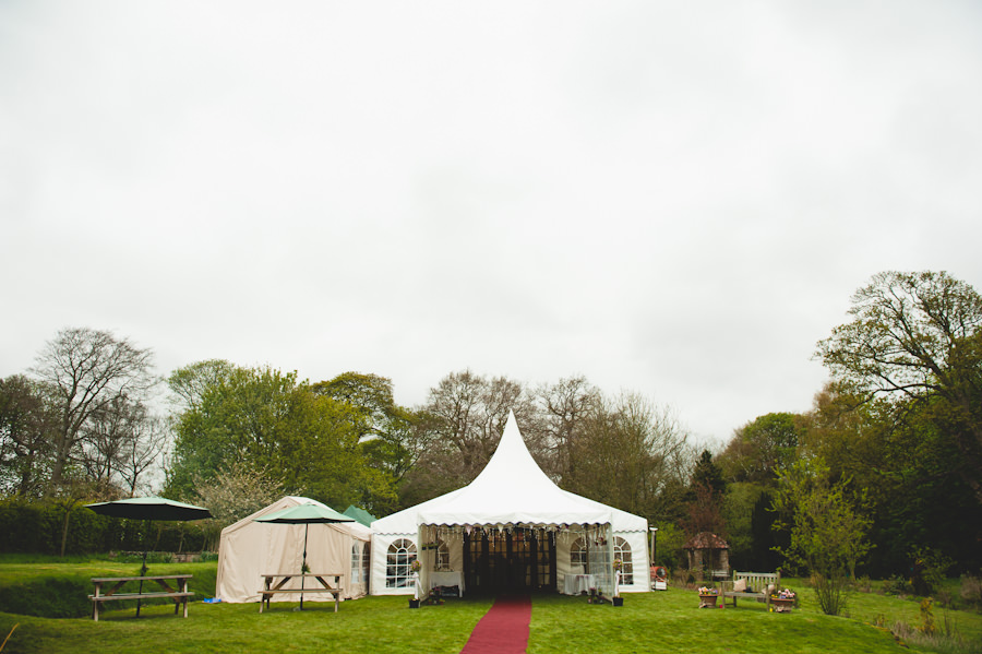 marquee at a Nottingham wedding