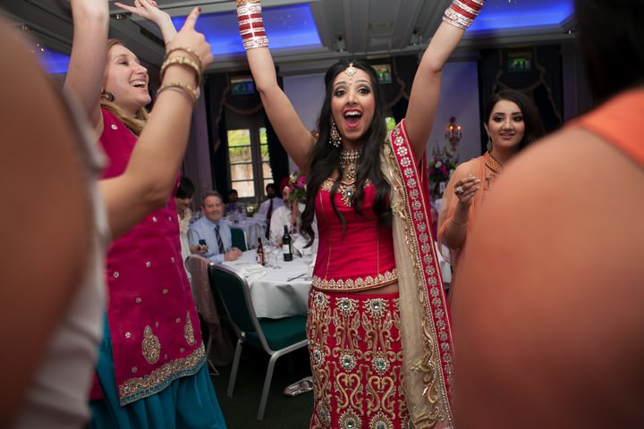 evening reception dancing at Oulton Hall in Leeds