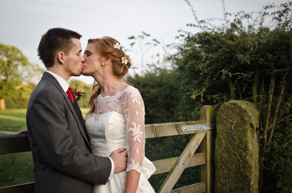 bride and groom at Lancashire wedding