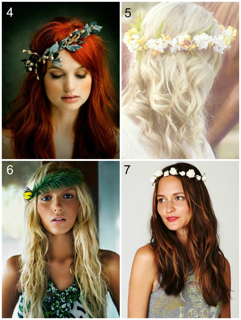 Bridal style flower crowns small and dainty flower crowns izmirmasajfo