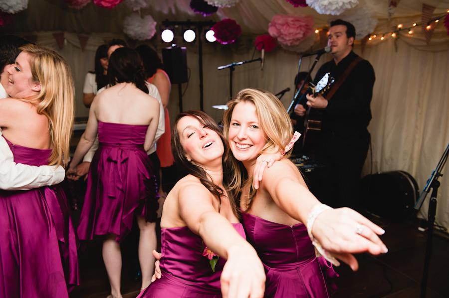bridesmaids dancing