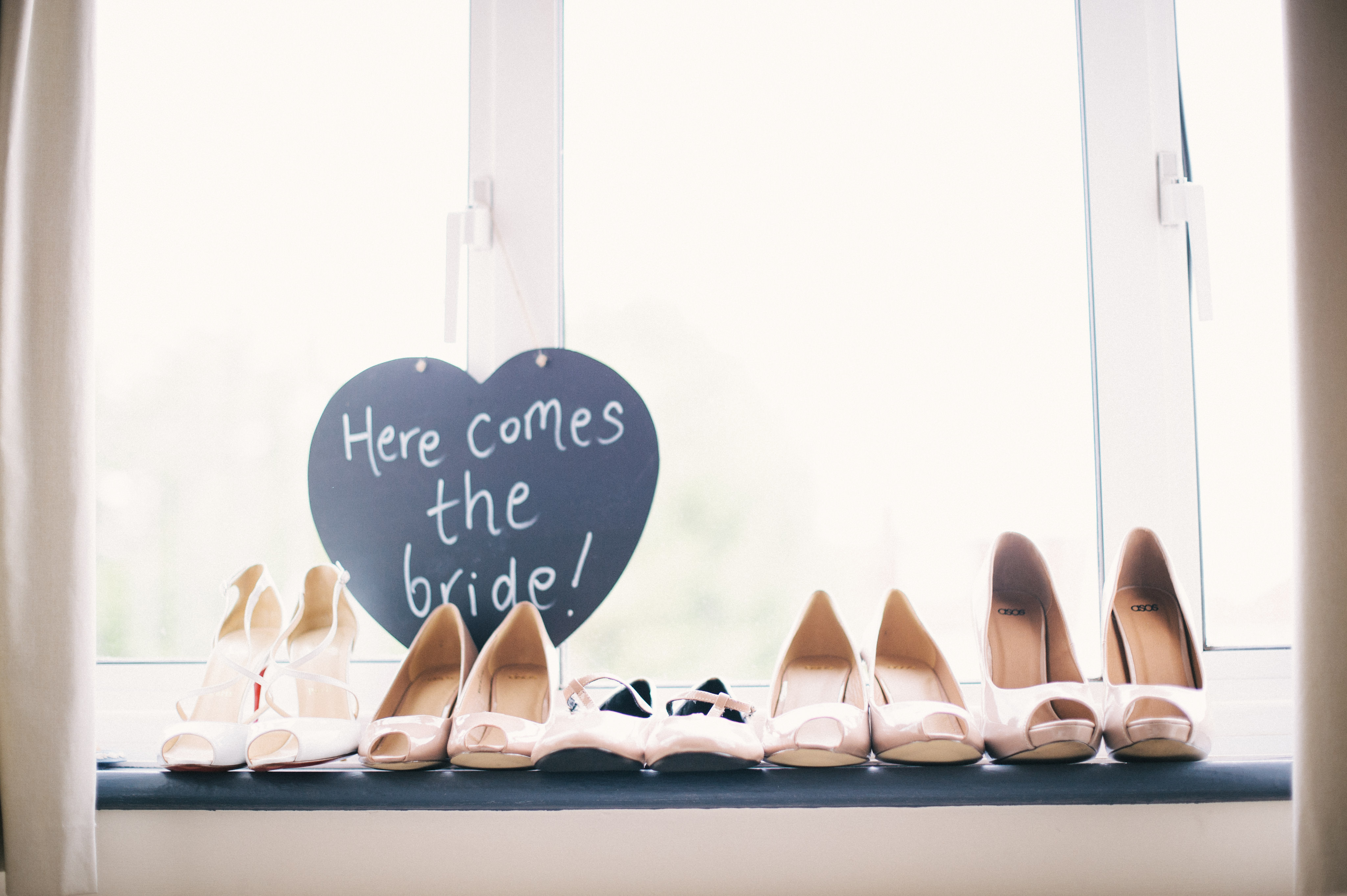 wedding shoes in a row