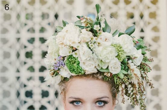 statement flower head piece