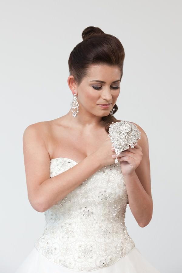 Ava Teardrop Crystal Brooch Bouquet - £395