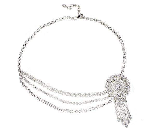 Ava Vintage Brooch Necklace - £95