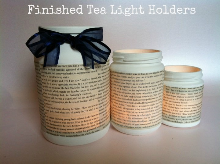 DIY Tutorial - jam jar tea lights