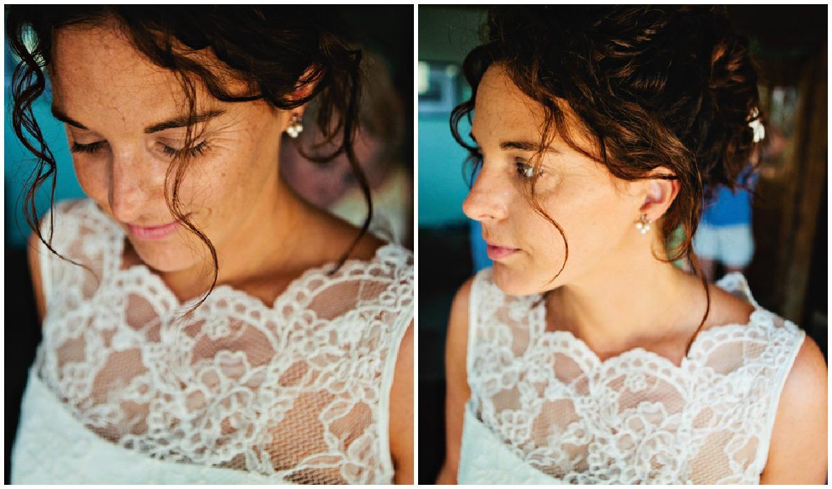bride in Augusta Jones wedding dress