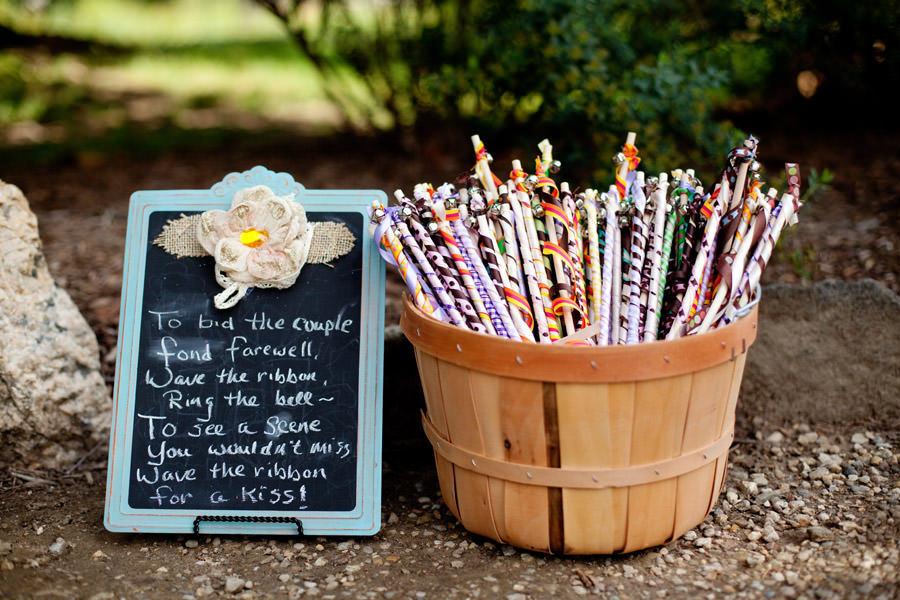 wedding ribbon sticks