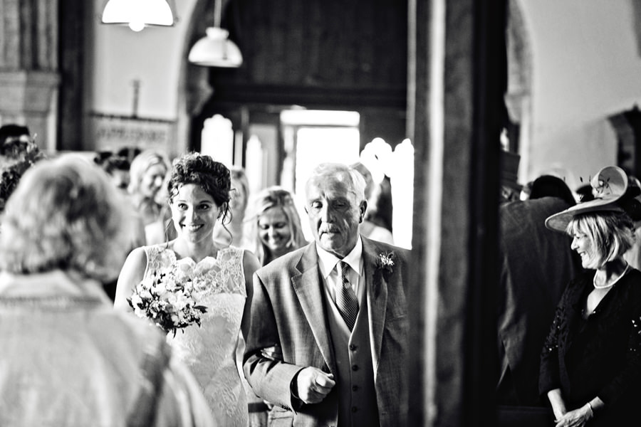 wedding ceremony at St Peter and St Paul Church Appledore, Kent