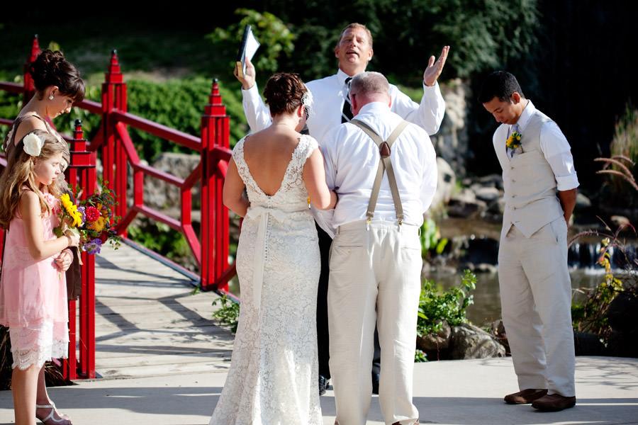 Mabery Gelvin Botanical Gardens, Illinois outdoor wedding ceremony