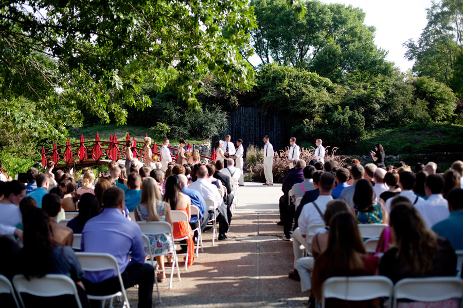 Mabery Gelvin Botanical Gardens, Illinois outdoor wedding ceremony