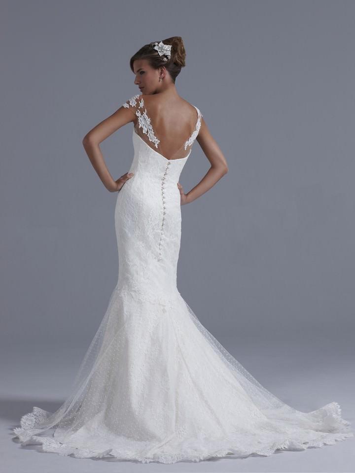 Illusion back wedding dress 2017