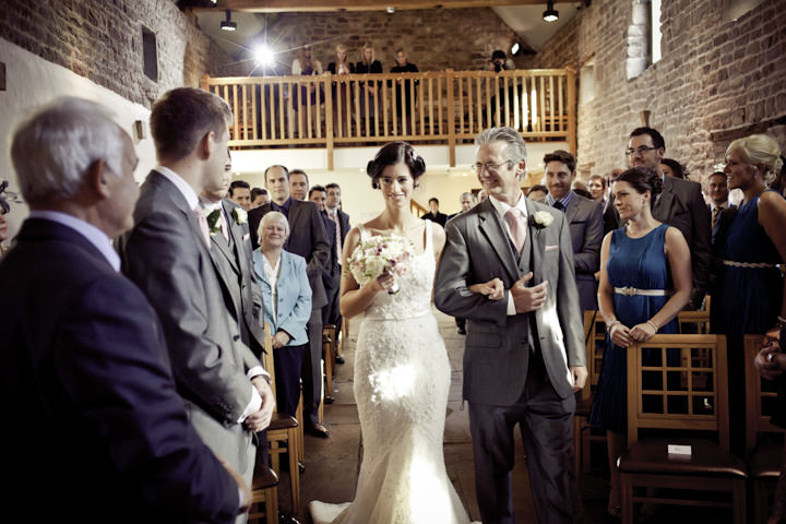 wedding ceremony at The Ashes, Endon, Staffordshire