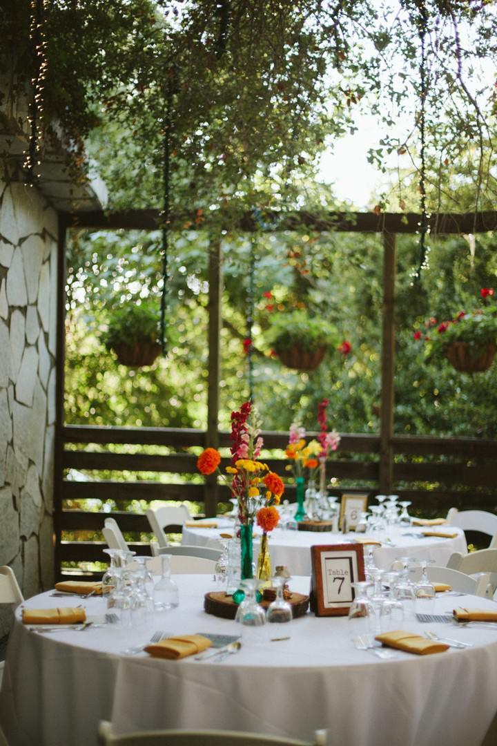 Calamigos Ranch outdoor wedding reception