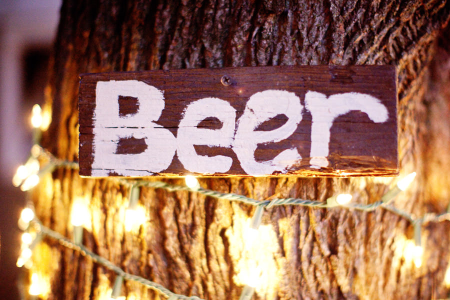 beer wedding sign
