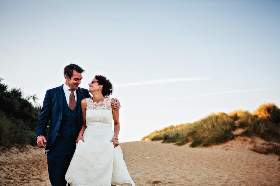 Kent wedding couple at camper sands