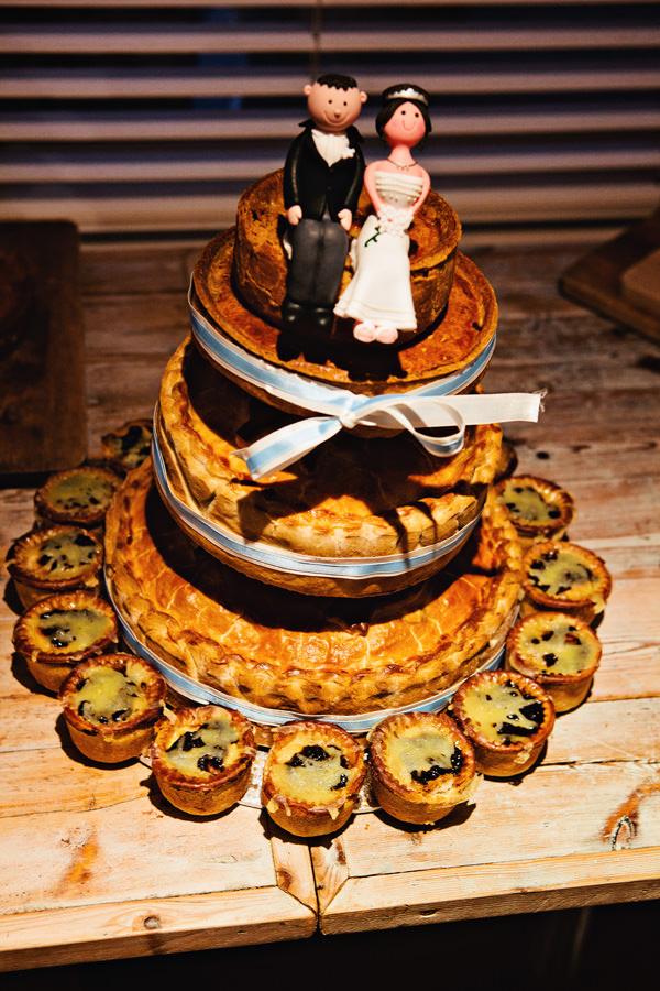 pork pie wedding cake