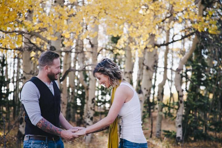 Colorado pre wed shoot