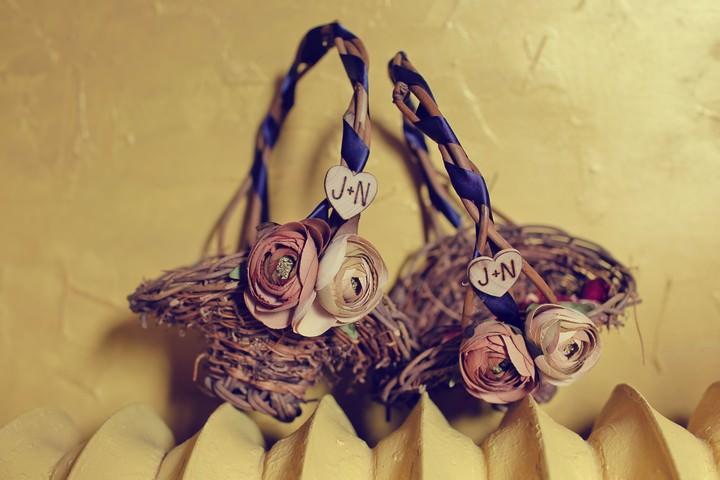 DIY flower baskets