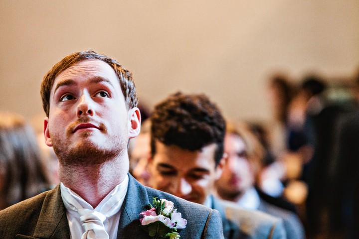 wedding ceremony at Weston Church, Hertfordshire