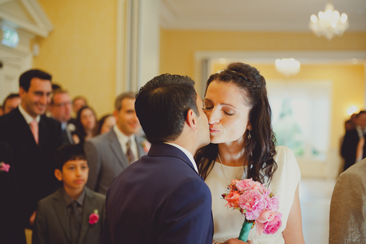 wedding ceremony at Rodbaston Hall, Penkridge, Staffordshire