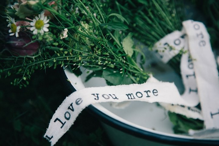 wedding flowers with personal messages