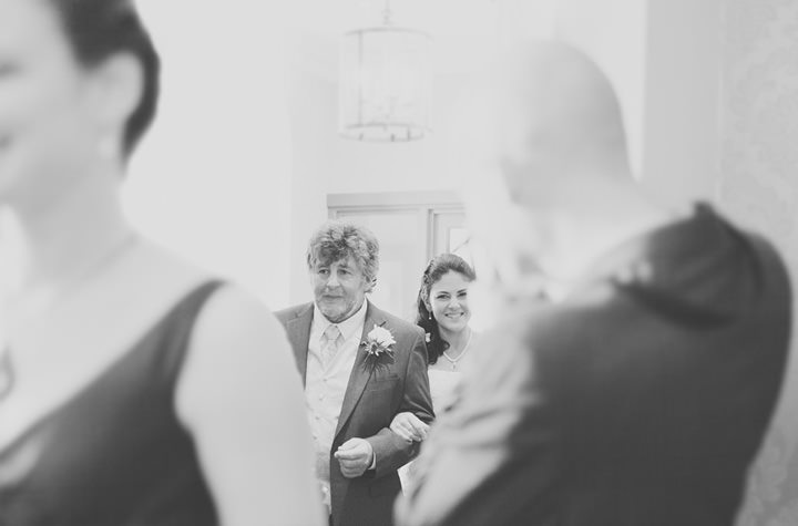 wedding ceremony at The Black Lion Hotel, Talybont