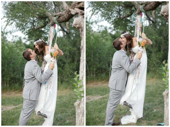 Bohemian Wedding couple