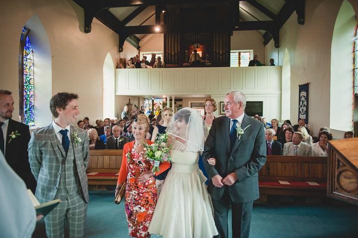 wedding ceremony at St Thomas Church, Glaisdale