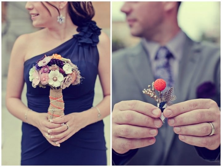 DIY  bouquet and button hole