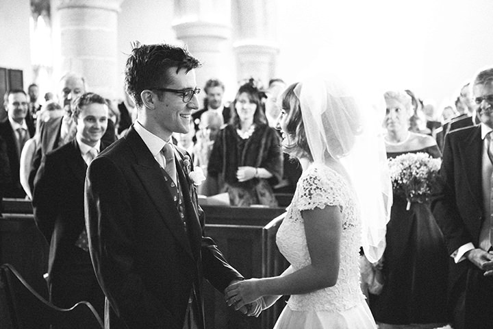 wedding ceremony at St. Mary's church in Duddington