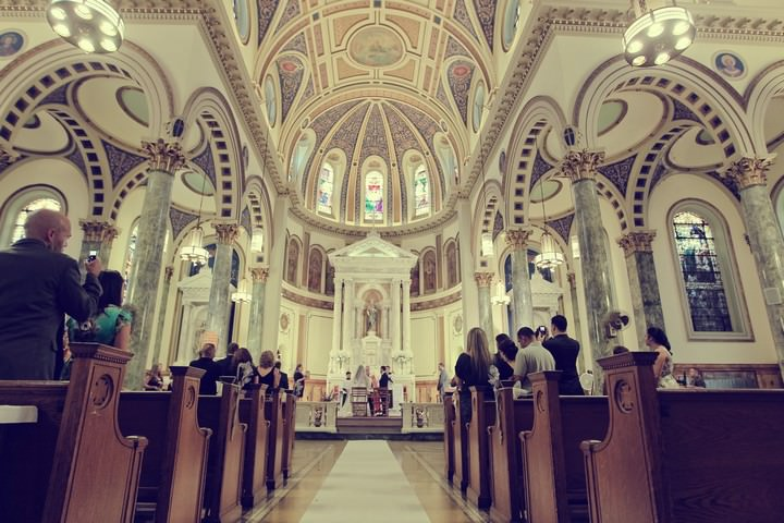 St.Matthias RC Church in Ridgewood Queens wedding ceremony