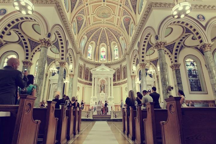 St.Matthias RC Church in Ridgewood Queens wedding ceremony