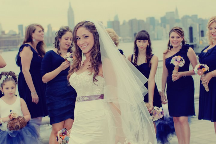 bridal shots against the New York sky line