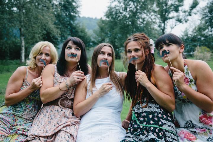 Austrian wedding party