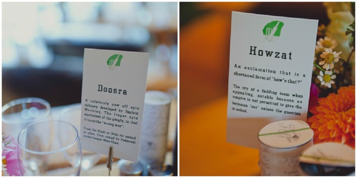 cricket themed table names