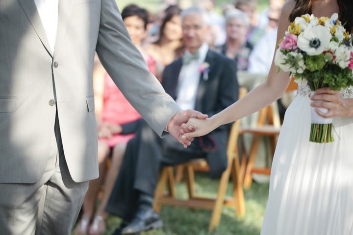 outdoor Texas wedding ceremony
