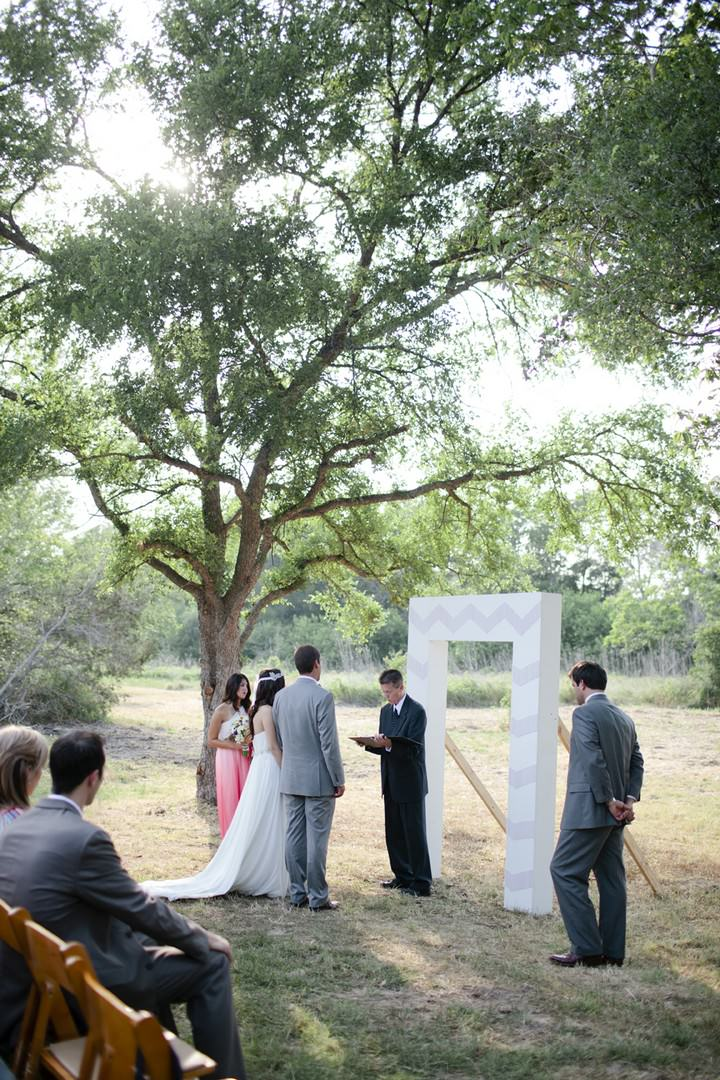 outdoor Texas wedding ceremony