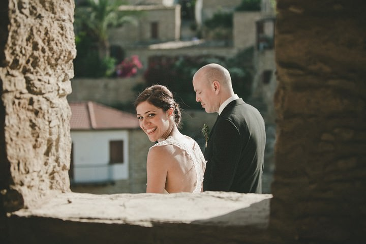 bride and groom in cyprus