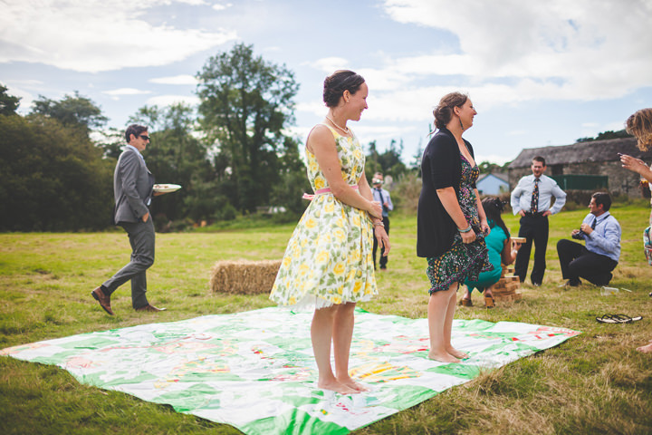 field games at a welsh wedding reception