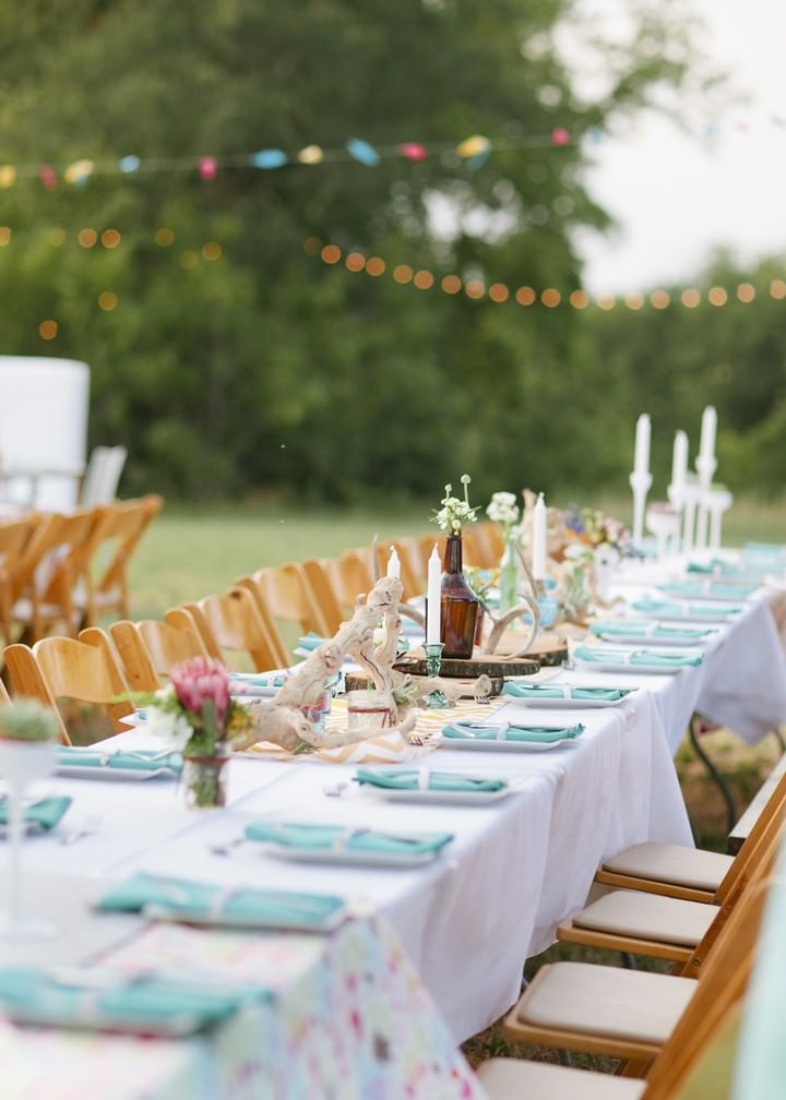 outdoor Texas wedding reception