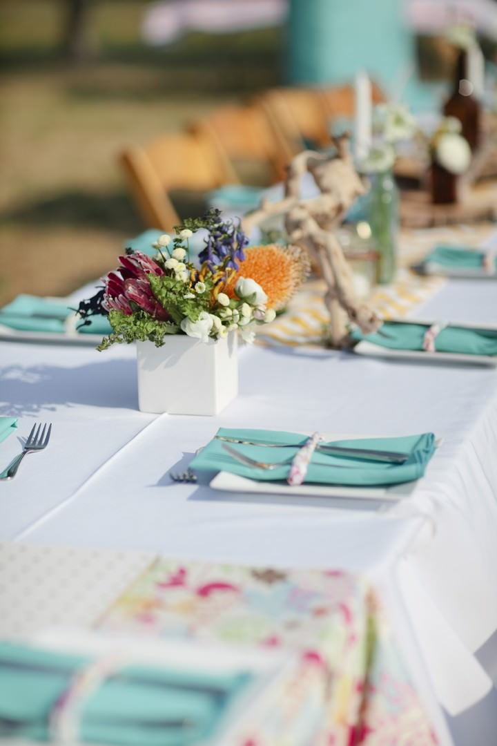 turquoise wedding details