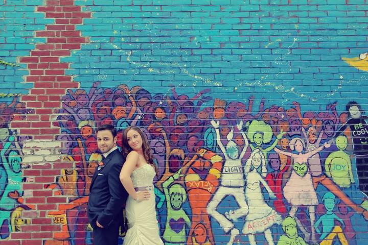 Brooklyn wedding couple