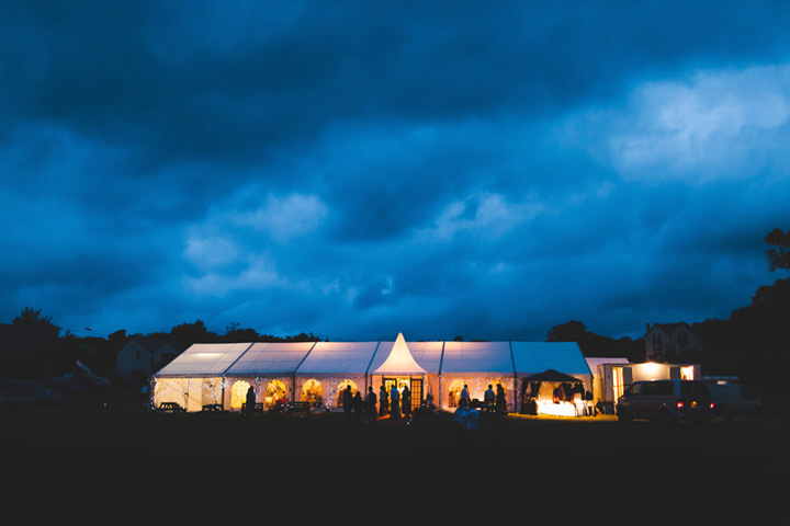 evening reception at a welsh marquee wedding