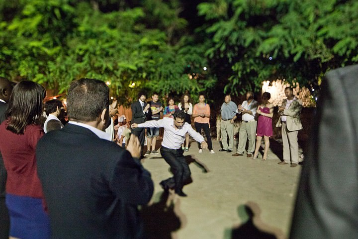outdoor wedding reception in cyprus
