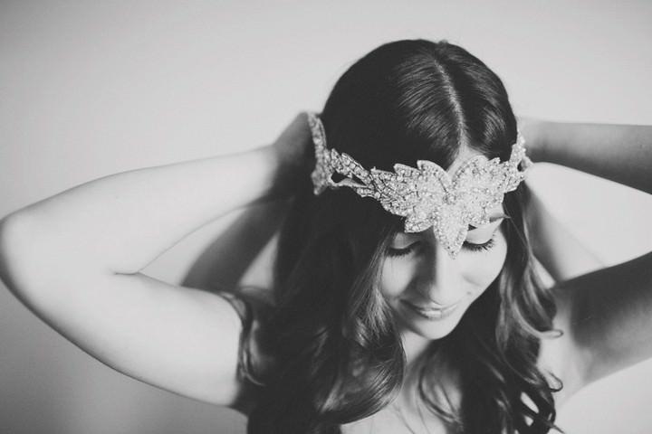 boho style bridal headband