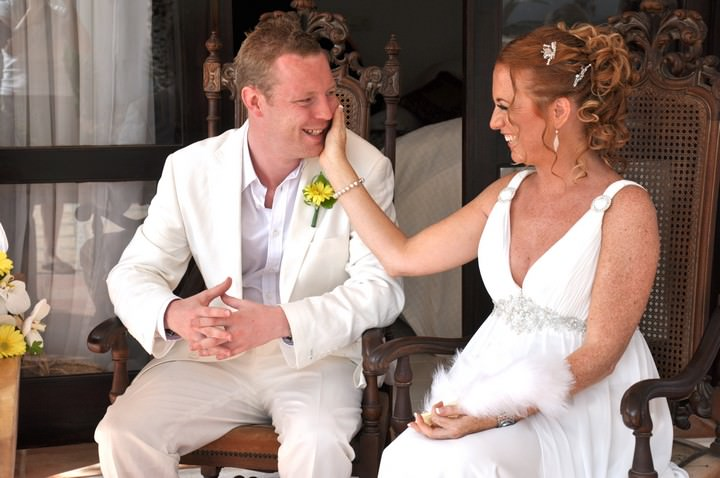 me and Nik at our ibiza wedding ceremony