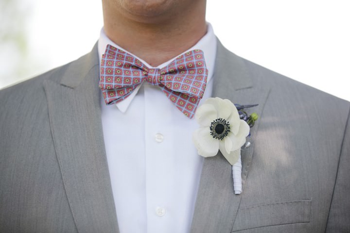 bow tie and button hole